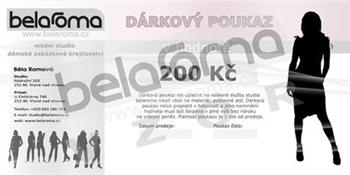 Obrázek Dárkový poukaz belaroma 200Kč