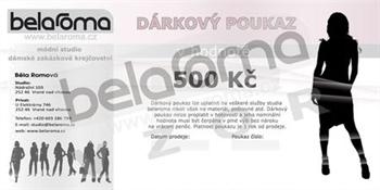 Obrázek Dárkový poukaz belaroma 500Kč