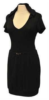 Obrázek Variace belaroma černá sport - tričko krátký rukáv s kapucí a výstřihem do V, minisukně úplet
