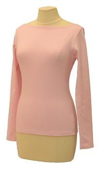 Obrázek Růžové tričko belaroma dlouhý rukáv s lodičkovým výstřihem