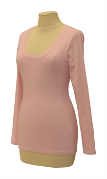 Obrázek Růžové tričko belaroma dlouhý rukáv s kulatým výstřihem
