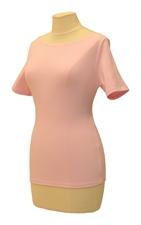 Obrázek Růžové tričko belaroma krátký rukáv s lodičkovým výstřihem