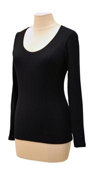 Obrázek Černé tričko belaroma dlouhý rukáv s kulatým výstřihem