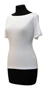 Obrázek Bílé tričko belaroma krátký rukáv s lodičkovým výstřihem