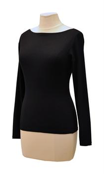 Obrázek Černé tričko belaroma dlouhý rukáv s lodičkovým výstřihem