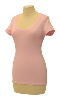Obrázek Růžové tričko belaroma krátký rukáv s kulatým výstřihem