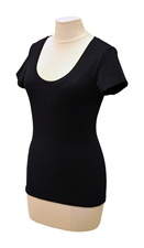 Obrázek Černé tričko belaroma krátký rukáv s kulatým výstřihem