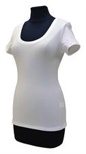 Obrázek Bílé tričko belaroma krátký rukáv s kulatým výstřihem