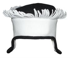 Obrázek Čepice belaroma bílo - černá s třásněmi