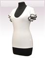 Obrázek In...line... bílé tričko belaroma volánkové rukávy s černým lemováním