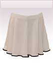 In...line... bílá sukně s legínami belaroma s černým lemováním
