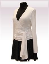 Obrázek In...line... bílý zavinovací kabátek belaroma s dlouhým rukávem
