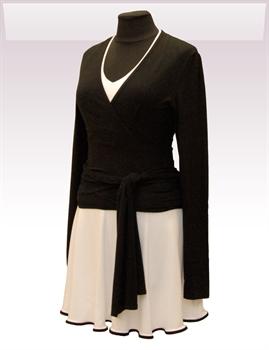 Obrázek In...line... černý zavinovací kabátek belaroma s dlouhým rukávem
