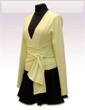 Obrázek In...line... zelený zavinovací kabátek belaroma s dlouhým rukávem