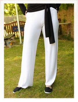 Obrázek In...line... bílé úpletové volné kalhoty belaroma