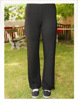 Obrázek In...line... černé úpletové volné kalhoty belaroma